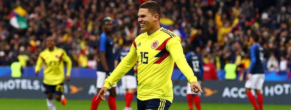 Juan Fernando Quintero podría quedarse como el único colombiano en River Plate, con las posibles salidas de Carrascal y Santos Borré