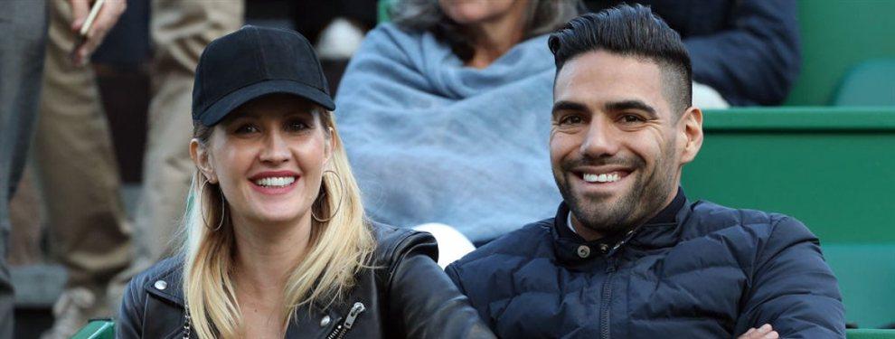 Radamel Falcao y su mujer, Lorelei Tarón, han decidido regresar a España una vez concluya el curso