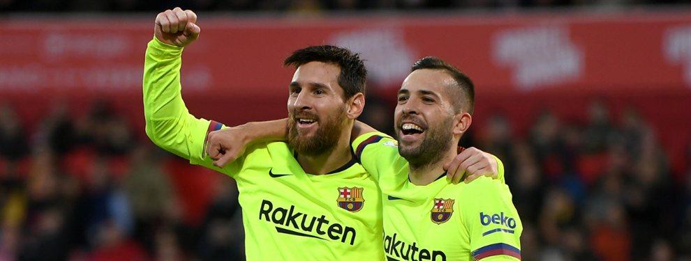 Jordi Alba ha pedido al Barça y a Messi que congelen la contratación de Filipe Luis