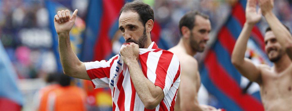 Juanfran se despidió del Atlético de Madrid y Simeone apunta a Mario Fernández para reemplazarlo.