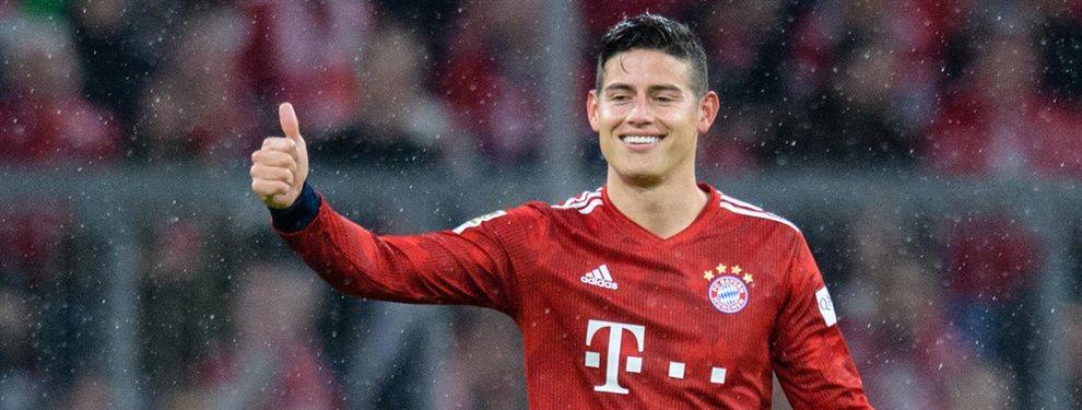 Guerra interna en el Bayern de Múnich, pues mientras unos directivos apuestan por retener a James Rodríguez, otros prefieren que se vaya