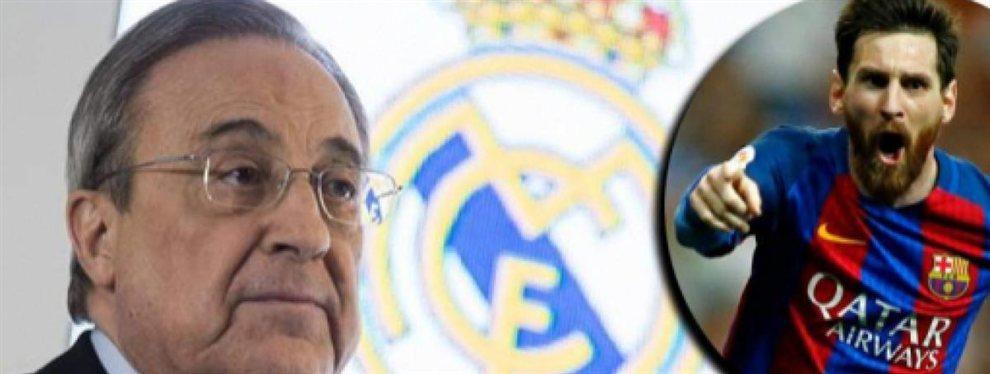Florentino Pérez tuvo que ver como un jugador del Real Madrid forzaba su renovación y sino se iría con Messi.