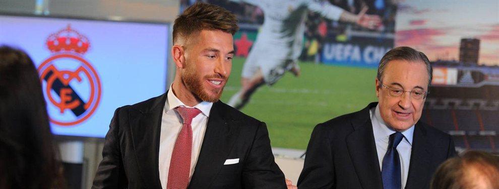 Sergio Ramos quiere salir a China y pide a Florentino Pérez que le dé la carta de libertad