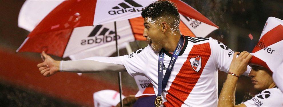 Exequiel Palacios sufrió una lesión en el duelo de vuelta de la Recopa Sudamericana.