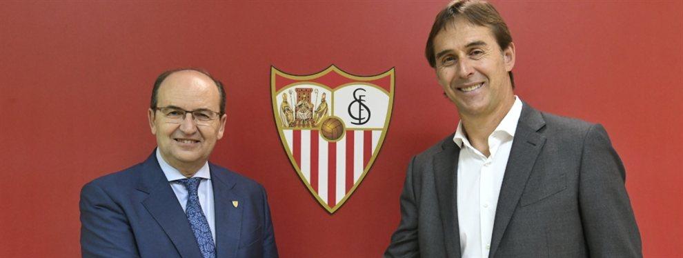 Julen Lopetegui fue oficializado como nuevo entrenador del Sevilla para la próxima temporada.