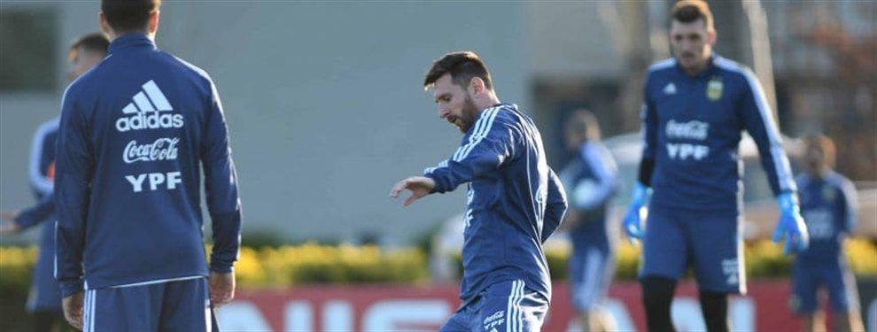 Lionel Scaloni realizó una práctica de fútbol con los 23 convocados de la Selección Argentina.