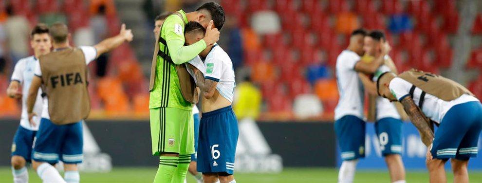 La Selección Argentina Sub 20 cayó por penales contra Mali y quedó eliminado del Mundial.