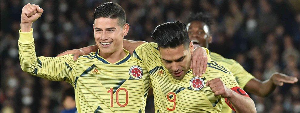 Falcao y James Rodríguez hablaron de su futuro y, mientras uno apuntó a que está en el Valencia, otro aseguró que está en Italia