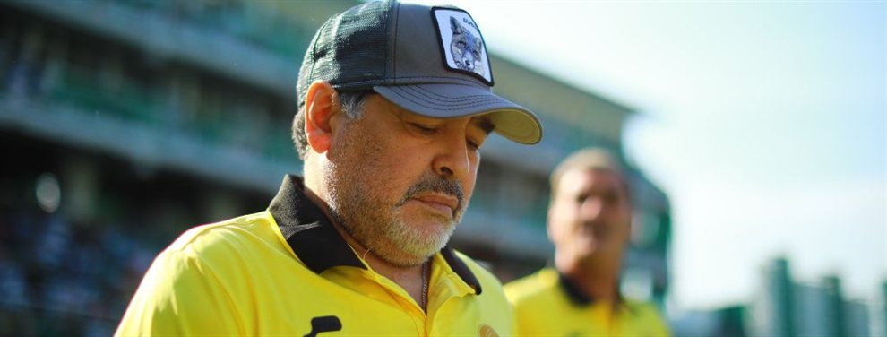 Diego Maradona, técnico de Dorados de Sinaloa, se postuló para el Manchester United