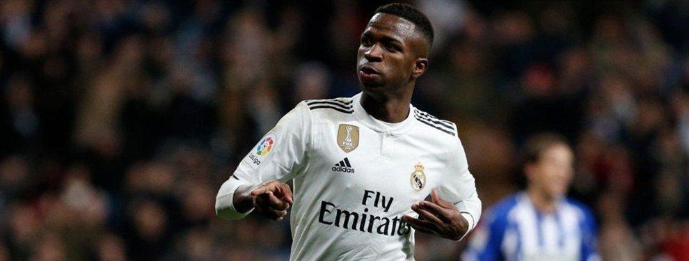 Vinicius Junior ha cambiado de agente y ahora trabajará con Jorge Mendes, lo que en el Real Madrid interpretan como una presión