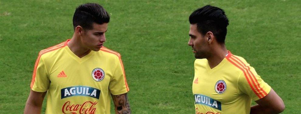 Radamel Falcao y James Rodríguez pueden jugar juntos en el Inter Miami de David Beckham