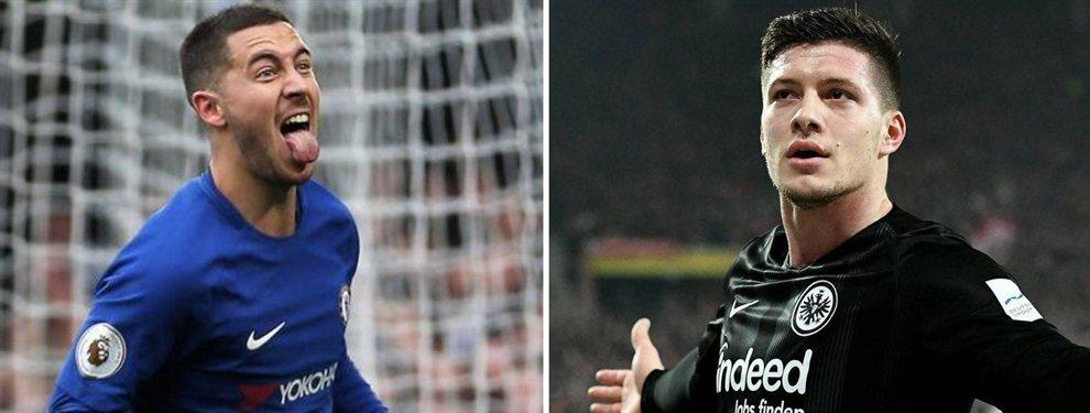 El Real Madrid ya ha cerrado a Luka Jovic, tiene casi totalmente a Eden Hazard y trabaja en Ferland Mendy