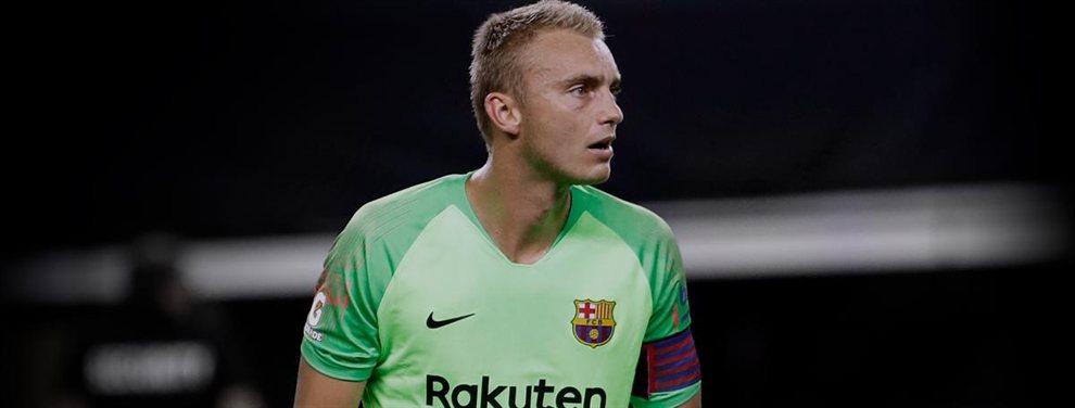 El guardameta Jasper Cillesen es uno de los 3 jugadores con menos minutos en liga de la Final Four de la UEFA Nations Cup.