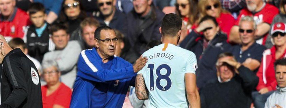 Olivier Giroud ha compartido hoy en rueda de prensa una anécdota sobre su relación con Sarri