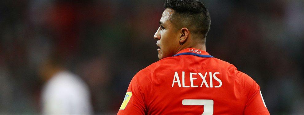 Alexis Sánchez, que es seria duda para la Copa América, podría ser una opción que interesara al Atlético de Madrid.