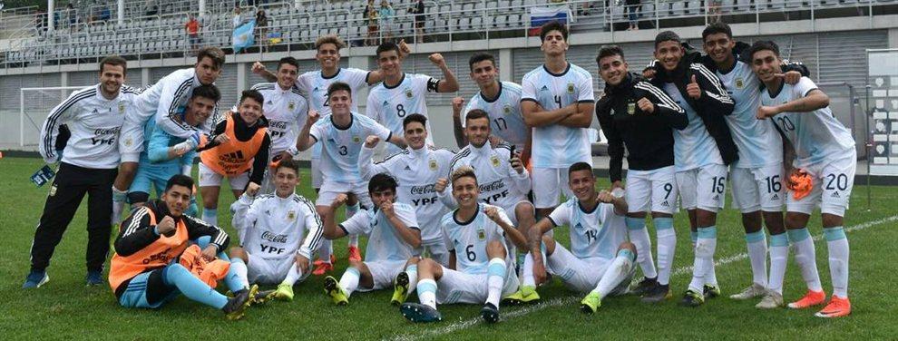 La Selección Argentina Sub 17 venció por 4 a 2 Irán y avanzó a las semis de un torneo amistoso.