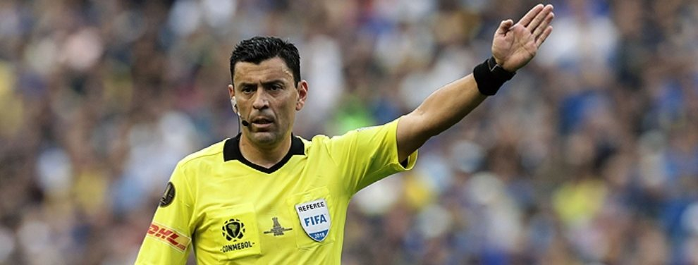 Roberto Tobar será el árbitro en el debut de Argentina en la Copa América ante Colombia.