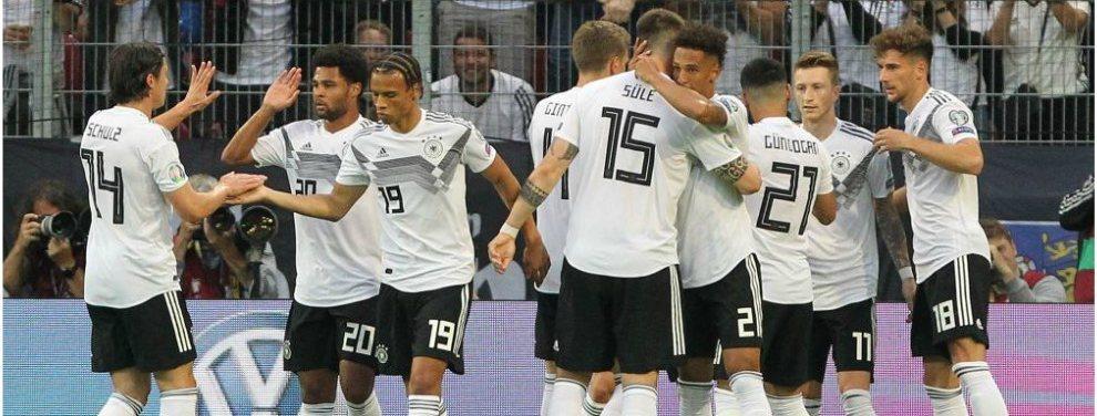 La jornada del martes de las Eliminatorias rumbo a la Eurocopa estuvo marcada por la goleada de Alemania.
