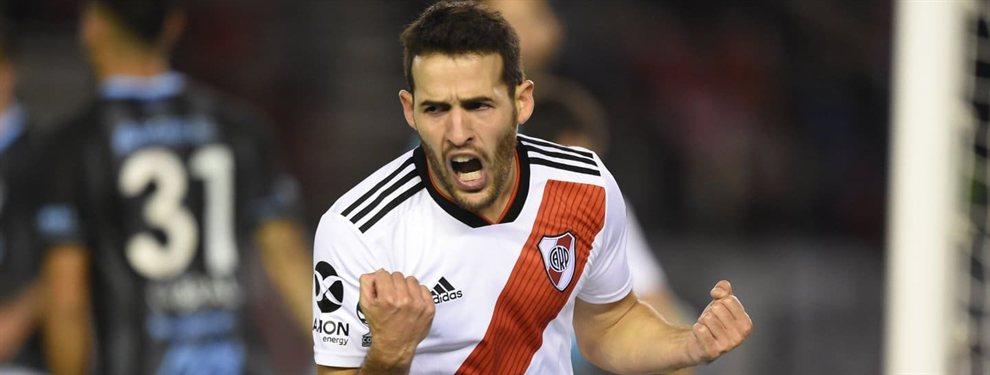Atlético de San Luis desea contratar a Camilo Mayada, que finaliza su contrato con River en 18 días.