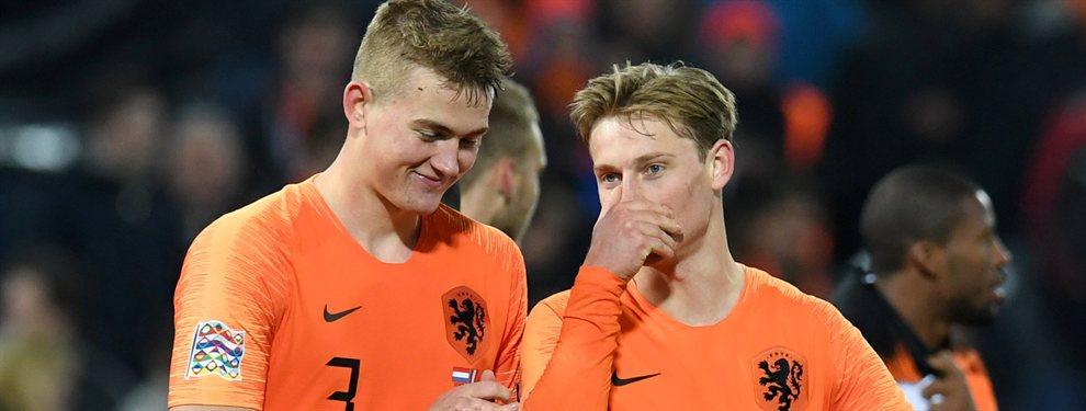 De Ligt podría no seguir el camino de su amigosFrenkie De Jong de fichar por el FC Barcelona.
