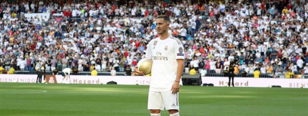 Real Madrid presentó a Eden Hazard en su estadio ante la presencia de más de 50 mil personas.