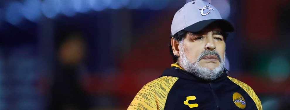 Diego Armando Maradona no continuará siendo el entrenador del Dorados de Sinaloa de México.