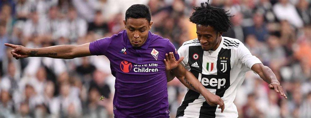 Luis Muriel y Juan Cuadrado pueden coincidir en el Newcastle, que quiere fichar a los dos