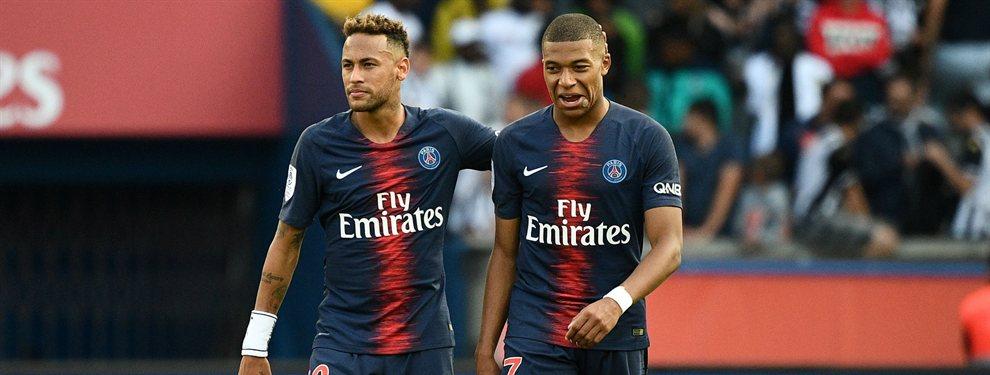 El presidente del PSG Al Khelafi se ha cansado del comportamiento de sus estrellas Neymar y Mbappe
