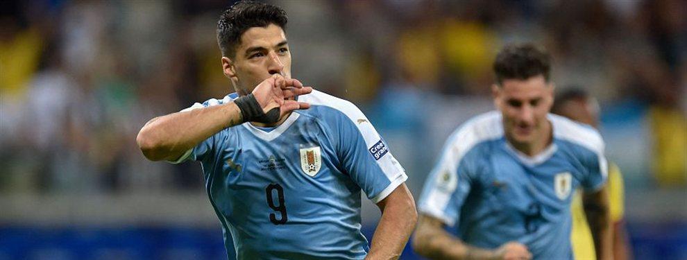La selección de Uruguay se impuso con facilidad por 4 a 0 ante su par de Ecuador por el Grupo C.