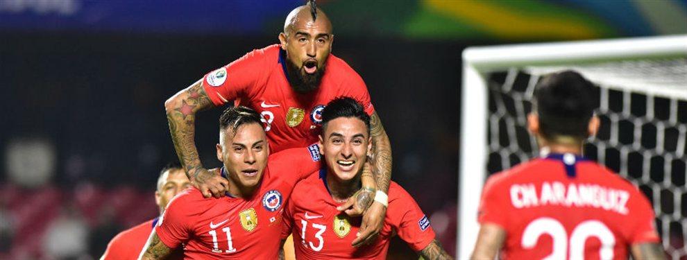 Chile, vigente bicampeón de la Copa América, se impuso por 4 a 0 ante Japón en su debut.