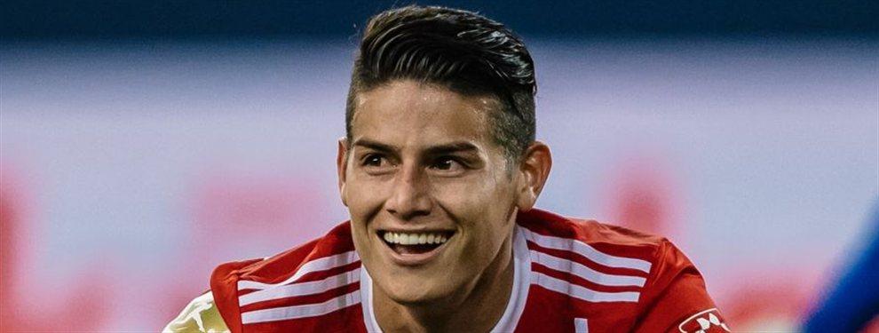 El Real Madrid estaría pensando en una cesión con opción a compra de James Rodríguez al Nápoles