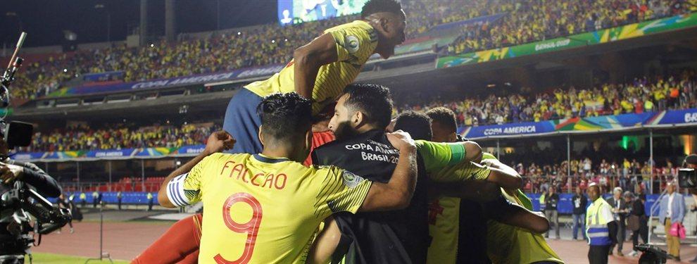 Colombia se impuso por 1 a 0 sobre el final del encuentro ante Qatar con gol de Zapata.