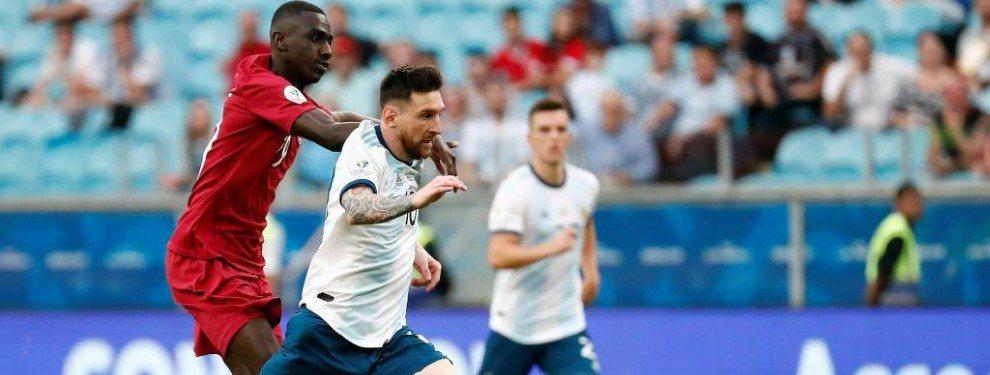 La a rgentina de Lo Messi sello ayer su clasificación matemática para la siguiente ronda