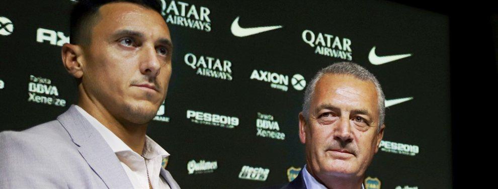 Nicolás Burdisso y Gustavo Alfaro se encuentran abocado a las negociaciones de Boca.