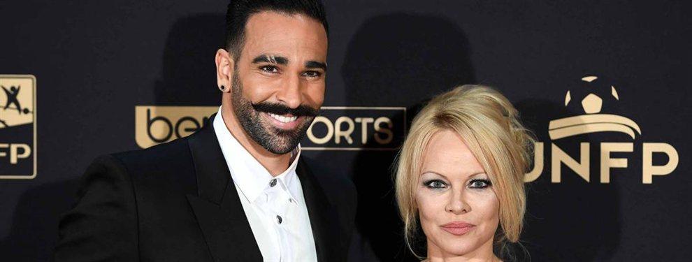 Pamela Anderson anunció el final de su relación con el campeón del mundo con Francia, Adil Rami.