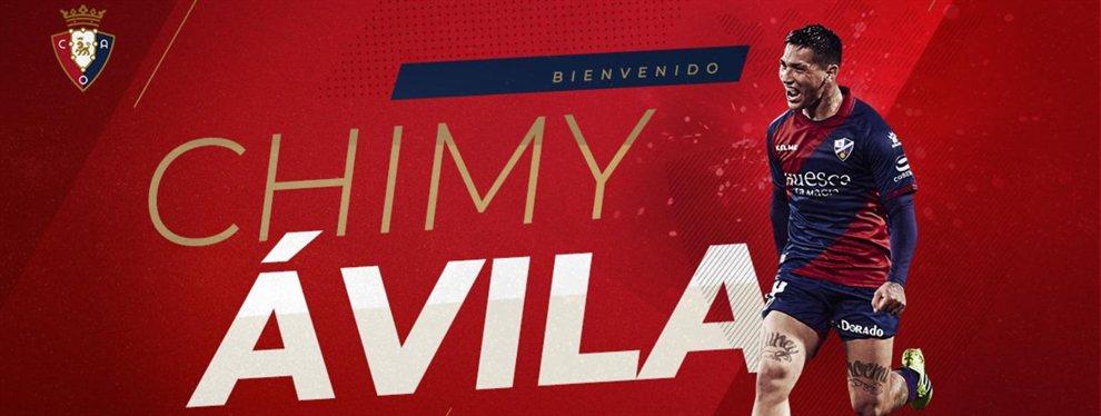 San Lorenzo vendió el 50% del pase del Chimy Ávila al Osasuna cambio de 3.100.000 dólares.