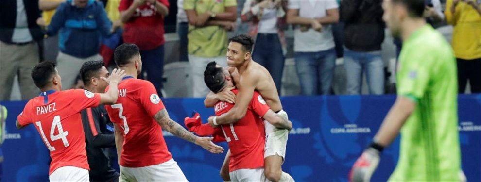 Chile, actual bicampeón de la Copa América, venció a Colombia en la definición por penales.