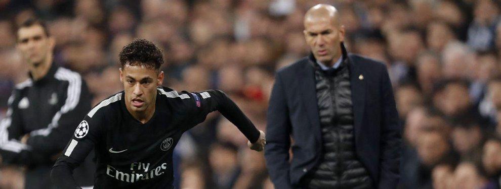 Zidane tuvo una reunión con Florentino para indicarle que, si el equipo culé reforzaba su ataque con un futbolista con las condiciones de 'Ney'.