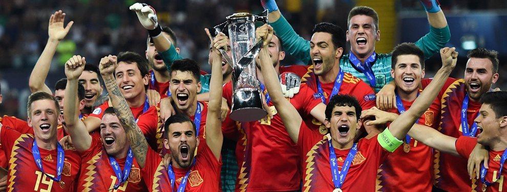 Florentino Pérez se ha fijado en dos estrellas de España sub 21, campeona del Europeo: Fabián Ruiz y Dani Olmo