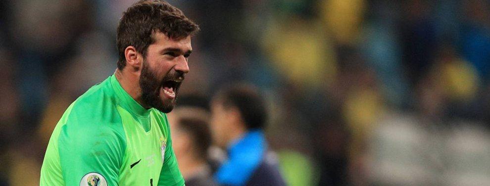 El arquero de la selección de Brasil, Alisson Becker, acumula ocho encuentros sin recibir goles.