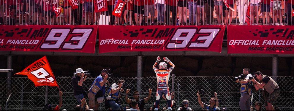 Marc Márquez lo vuelve a conseguir: pole position, la décima de la temporada, en el circuito de Sachsenring. Brinder y Sasaki los mejores en Moto2 y Moto3