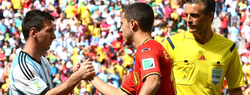 Eden Hazard y Leo Messi tienen el mismo valor de mercado según la web Transfermarkt