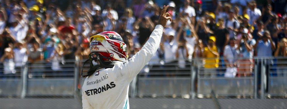 Lewis Hamilton gana en casa con un golpe de fortuna y distancia a sus inmediatos perseguidores en un GP de Gran Bretaña con batallas antológicas