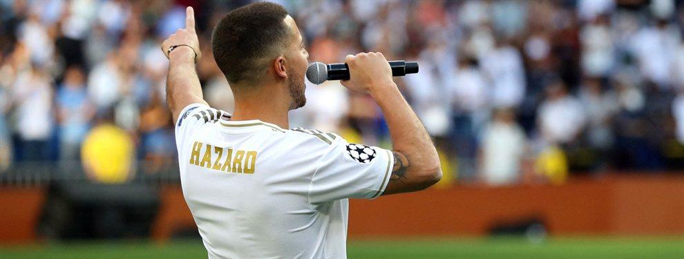 Eden Hazard tiene que elegir dorsal, ya que el '10' y el '7' están ocupados, y será el '23'