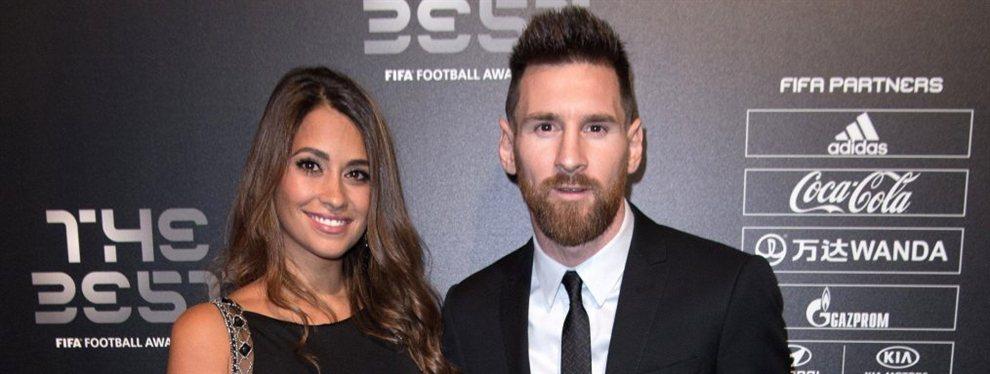 Antonella Roccuzzo y Leo Messi presumieron de su amor con una fotografía en las redes sociales