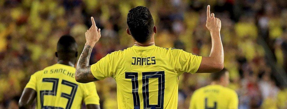 El Inter de Milán se ha colado en la puja por James Rodríguez y puede adelantarse a Napoli y Atlético de Madrid