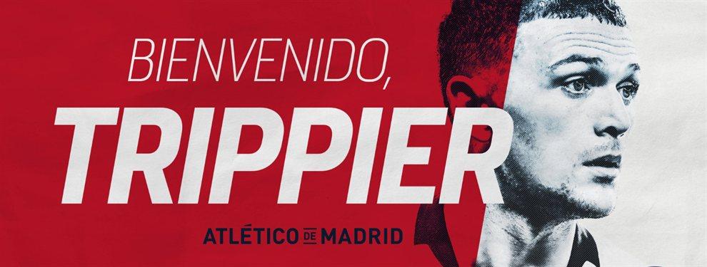El Atlético de Madrid confirmó la contratación del defensor inglés, Kieran Trippier.