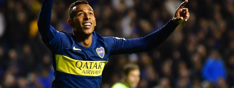 Sebastián Villa es pretendido por el Betis de España. Tiene una cláusula de 25 millones de dólares.