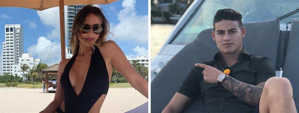 Shannon de Lima, sin quererlo, puso a James Rodríguez en un aprieto por una foto
