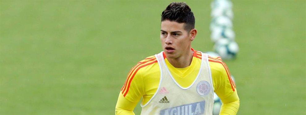 El Olympique de Lyon busca un relevo para Nabil Fekir, firmado por el Betis, y podría ser James Rodríguez